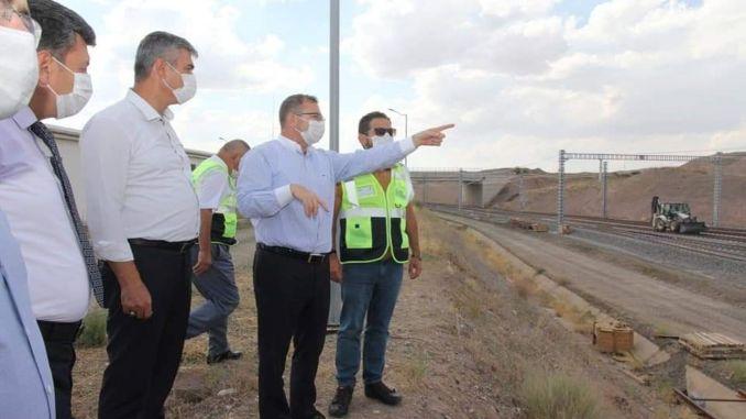 Gubernur Yozgat polat yerkoy melakukan pemeriksaan di yht