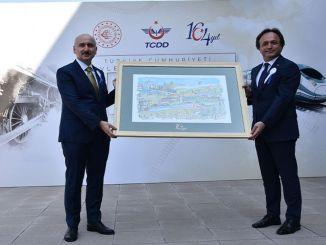 รัฐมนตรีว่าการกระทรวงKaraismailoğluเข้าร่วมในโครงการฉลองครบรอบ 164 ปีของ TCDD