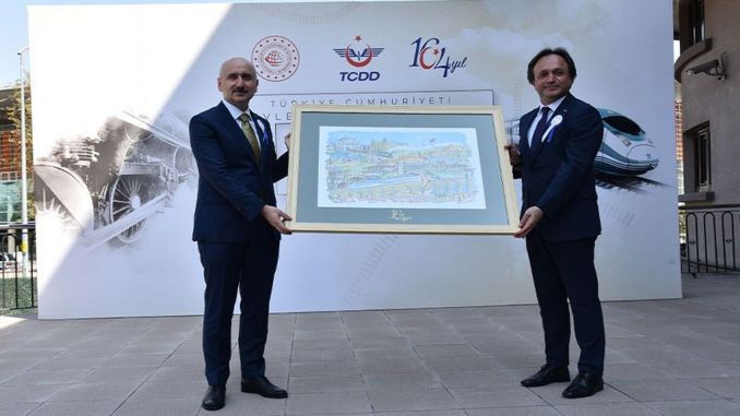 Karaismailoğlu部长参加了TCDD 164周年庆典活动