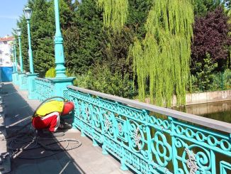 Continúan los trabajos de mantenimiento en los puentes de Porsuk Stream