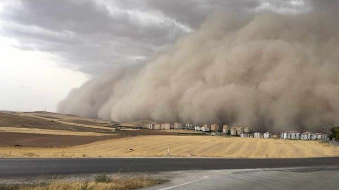 Sand Storm in Polatlı District of Ankara