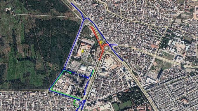 Giao lộ Bến xe buýt của Đại lộ Antalya sẽ bị đóng cửa để lưu thông trong 7 tháng