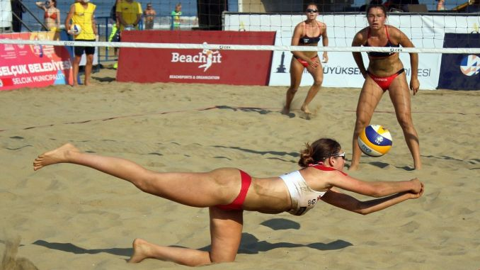 European Beach Volleyball Championship Started