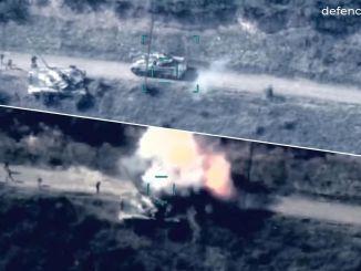 Azerbaidžanin armeija tuhosi 22 Armenian säiliötä