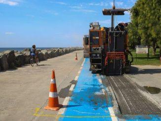 Le piste ciclabili sulla costa di Bakırköy sono state rinnovate