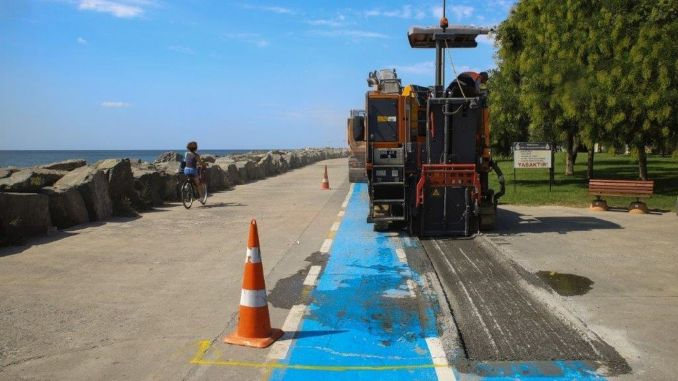 Bicycle Roads in Bakırköy Coast are Renewed