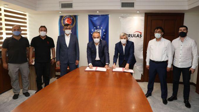הסכם קיבוצי עבור 2200 עובדים שנחתם ב- BURULAŞ