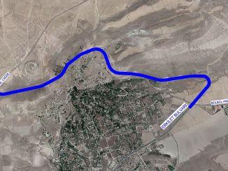 العمل في المنطقة المعروفة باسم طريق Hıdırellez في Erkilet