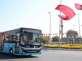 24 New Buses Added to Kayseri's Transportation Fleet Entered Service
