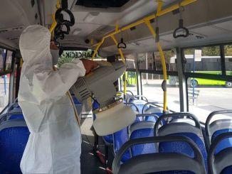 Private Public Buses in Kocaeli are Periodically Disinfected