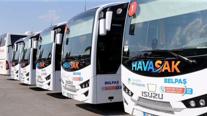 Bus Fly fra Sakarya til Sabiha Gökçen Start den 18. september
