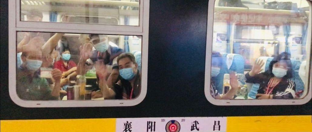 Der erste Touristenzug fährt seit Beginn des Ausbruchs von Wuhan ab