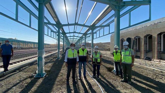 Las obras de construcción de la estación Yozgat YHT continúan a toda velocidad