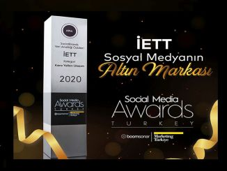 Ang Gold Award sa IETT sa Social Media Awards Turkey 2020