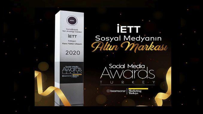 IETT's Gold Award at Social Media Awards Turkey 2020
