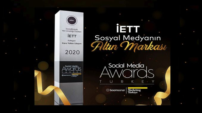 Zlatá cena IETT na Social Media Awards Turkey 2020