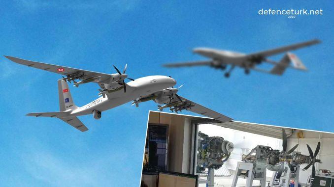 Bayraktar TB3 pilóta nélküli légi jármű érkezik