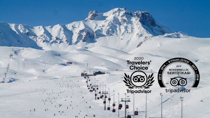 2020 Travellers Choice Award for Erciyes Ski Resort