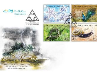 Fractal Nature Reflections on PTT Stamps