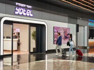 YOTEL Comfort aan de land- en luchtzijde op de luchthaven van Istanbul