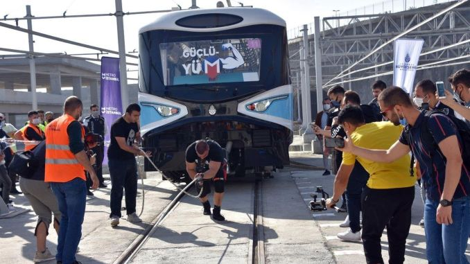 Metro Istanbul Strongman Challenge Train Pulling Competition was held