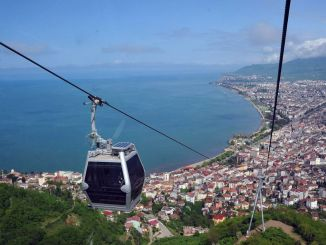 Cable Car Under Maintenance in Ordu