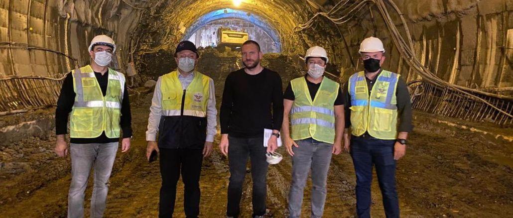 Pengurus Besar TCDD Memeriksa Pembinaan Terowong T26 YHT di Uygun Sakarya