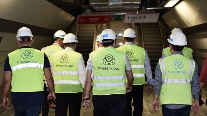 Thyssenkrupp Asansör лифт ва таъминкунандаи эскалатор барои 2 хатти метро дар Истамбул шуд