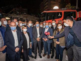 Avertisment de la Tunç Soyer pentru ca Izmirienii să nu intre în clădiri deteriorate