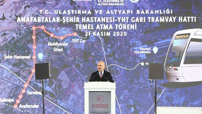 سنقدم الوزير karaismailoglu kayseri بخط سكة حديد سريع