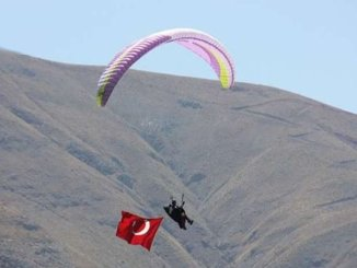 Slope paragliding activity at ski facilities by calculating