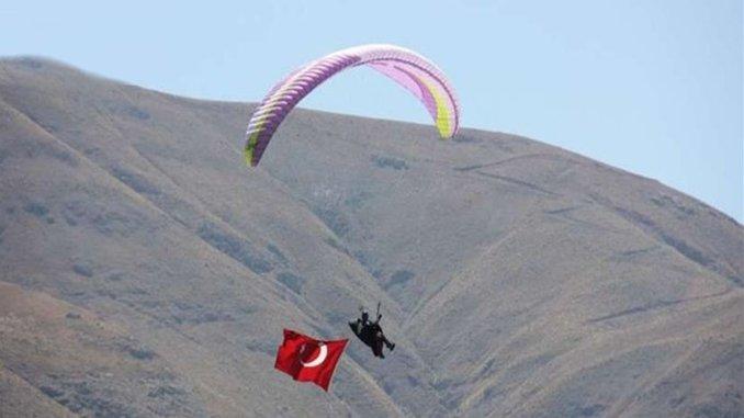 Slope paragliding activity at ski facilities by calculating