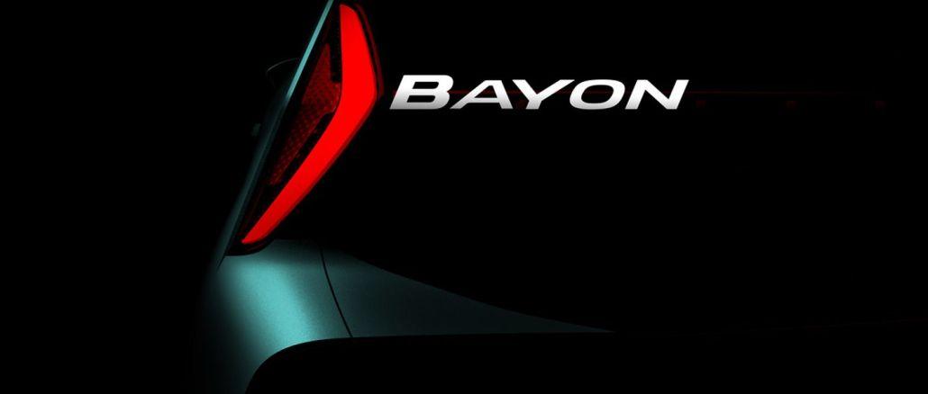 hyundai wird den neuen suv modellnamen bayon produzieren