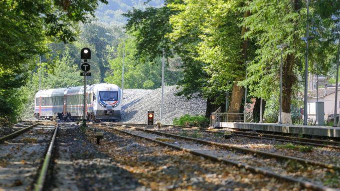 Construction of mt green road to the direction of Karabuk at the Irmak Zonguldak Line Ulku Station