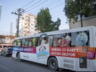 Kentkart mobile service vehicle is at the service of the people of mezit until November