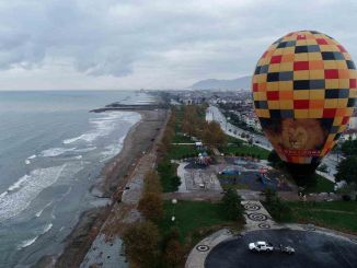 your army threw its signature hot air balloon with black tourism