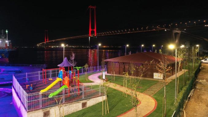 Osmangazi Bridge Scenic Beach Park completato
