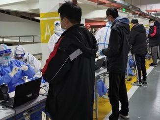 covid test tehakse sanghay pudongi lennujaama töötajatele