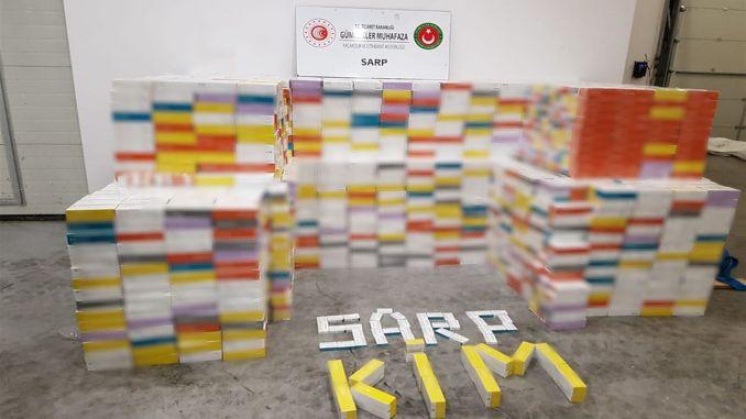 71 Thousand Pieces of E-Cigarette Tobacco Seized at Sarp Customs Gate