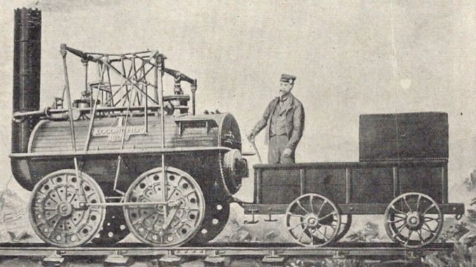 where was the train used for the first time in the world