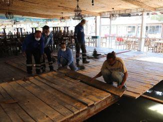Tusunamide的鱼市场受损,渔业集市恢复