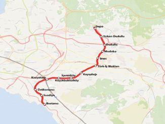 Bostanci Dudullu Metro Map