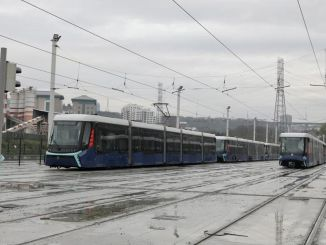 alibeykoy cibali tram line is put into service at the quarry