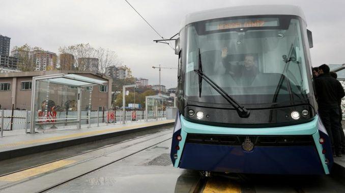 When will alibeykoy cibali tram line open?