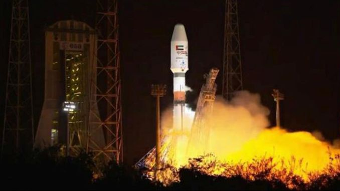 United Arab Emirates launched falcone satellite successfully