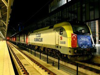 eerste exporttrein naar jin passeerde Ankara