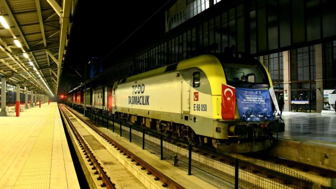 first export train to jin passed through Ankara