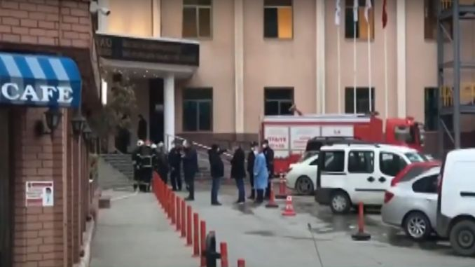 oxygen tube exploded in a private hospital in gaziantep