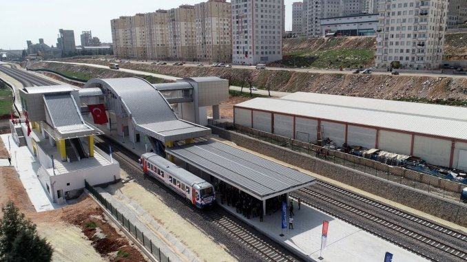 The vehicles to be used in the Gaziray suburban line will produce turasas