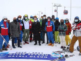 guvenli kayak merkezi erciyeste kayak sezonu acildi